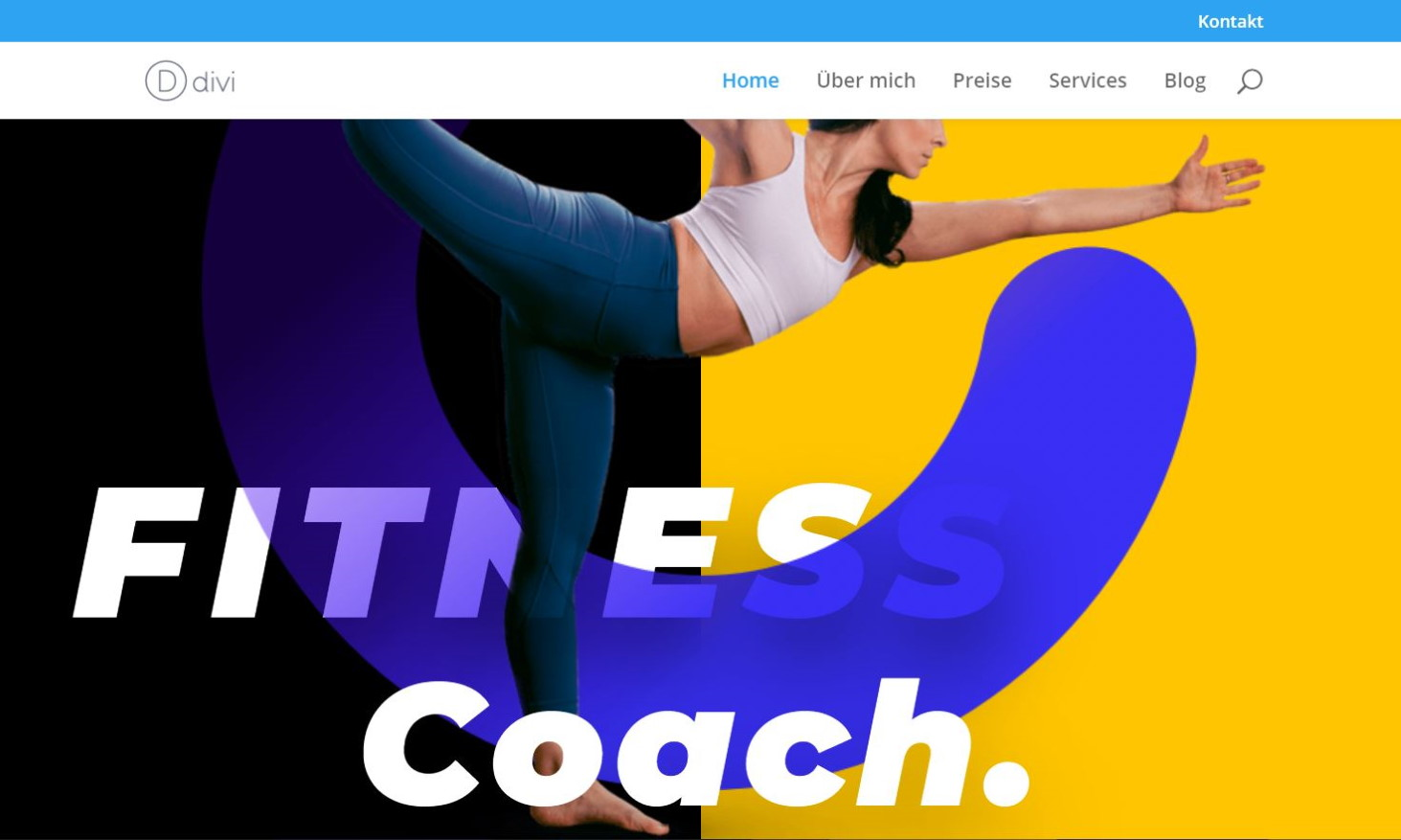 Fitness Trainer Webseite